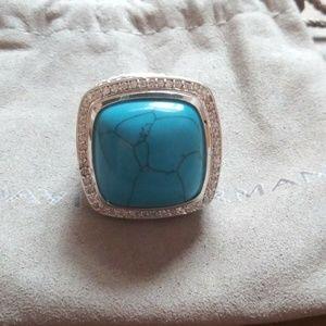 6.5 20mm albion ring in tourqouise Yurman diamond
